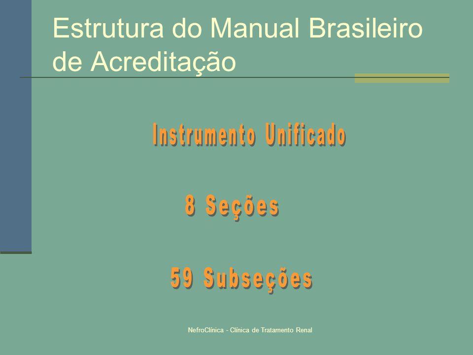 NefroClínica - Clínica de Tratamento Renal Estrutura do Manual Brasileiro de Acreditação