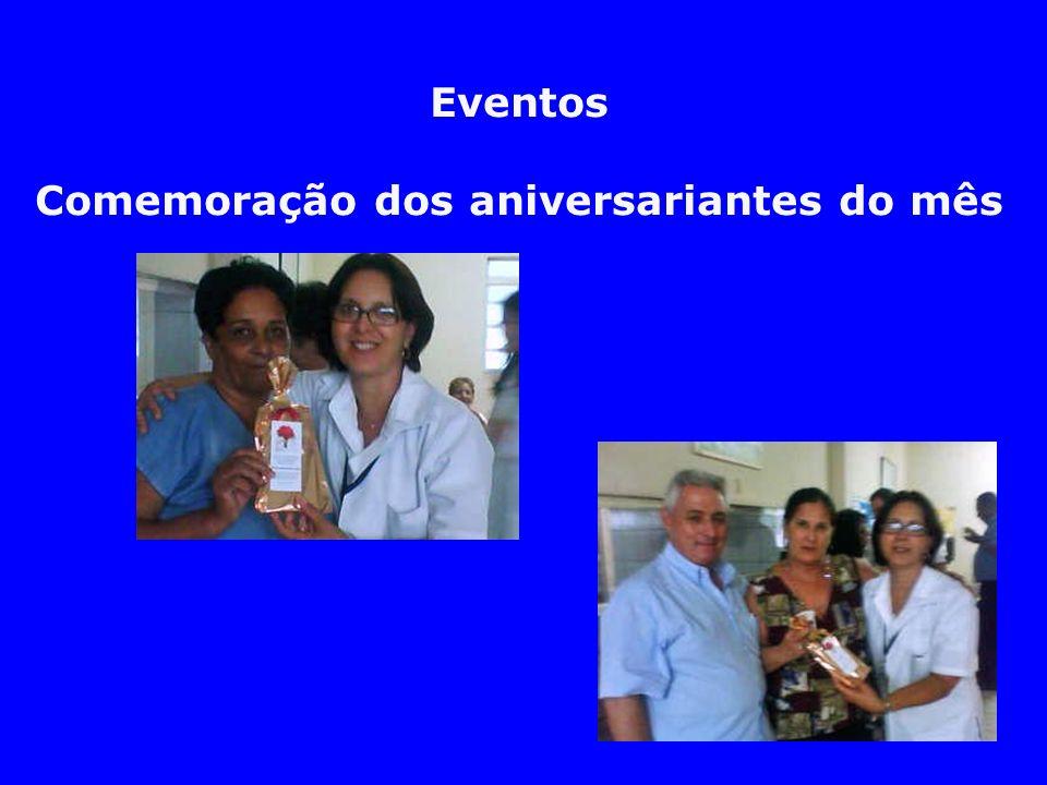 Eventos Comemoração dos aniversariantes do mês
