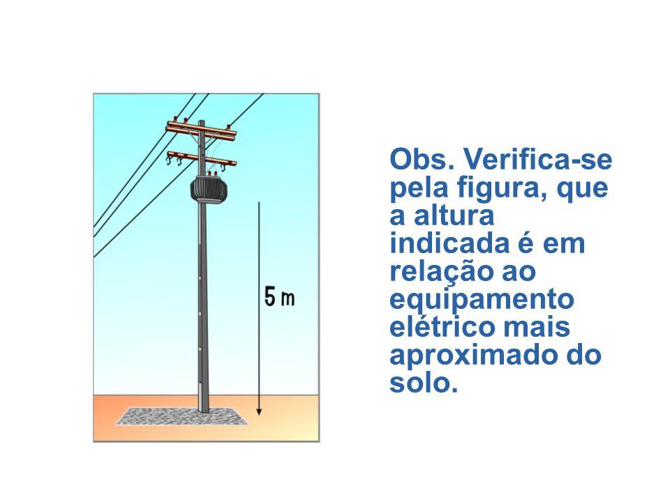 Colocação fora de alcance – destina-se a impedir contatos acidentais entre o trabalhador com condutores energizados mantendo distância vertical e/ou h