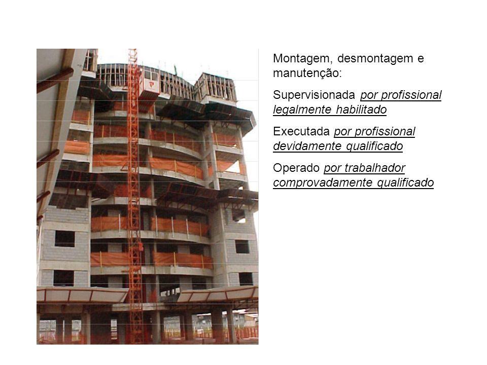 Elevador de obra – cremalheira Transporte misto de cargas e passageiros em compartimentos separados. Manual técnico: fabricação, montagem, desmontagem