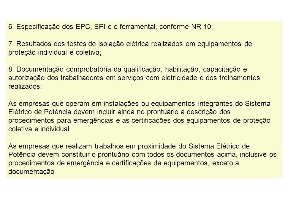 Montagem do prontuário das Instalações Elétricas 1. O Relatório Técnico elaborado, com as respectivas recomendações e cronograma de ações de adequação