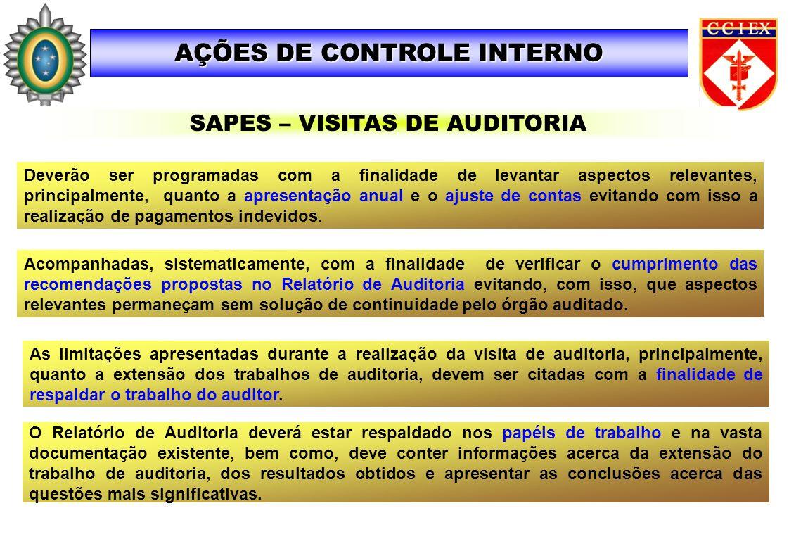 Acompanhadas, sistematicamente, com a finalidade de verificar o cumprimento das recomendações propostas no Relatório de Auditoria evitando, com isso,