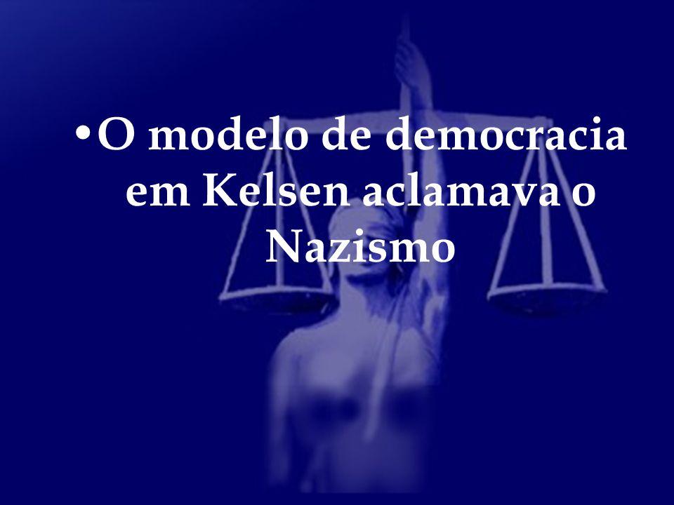 O modelo de democracia em Kelsen aclamava o Nazismo