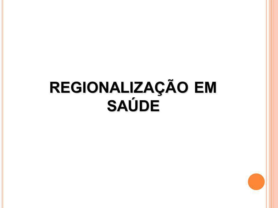 REGIONALIZAÇÃO EM SAÚDE