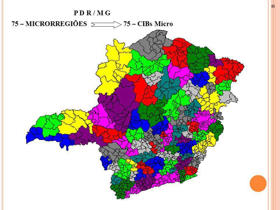 P D R / M G 75 – MICRORREGIÕES75 – CIBs Micro 44