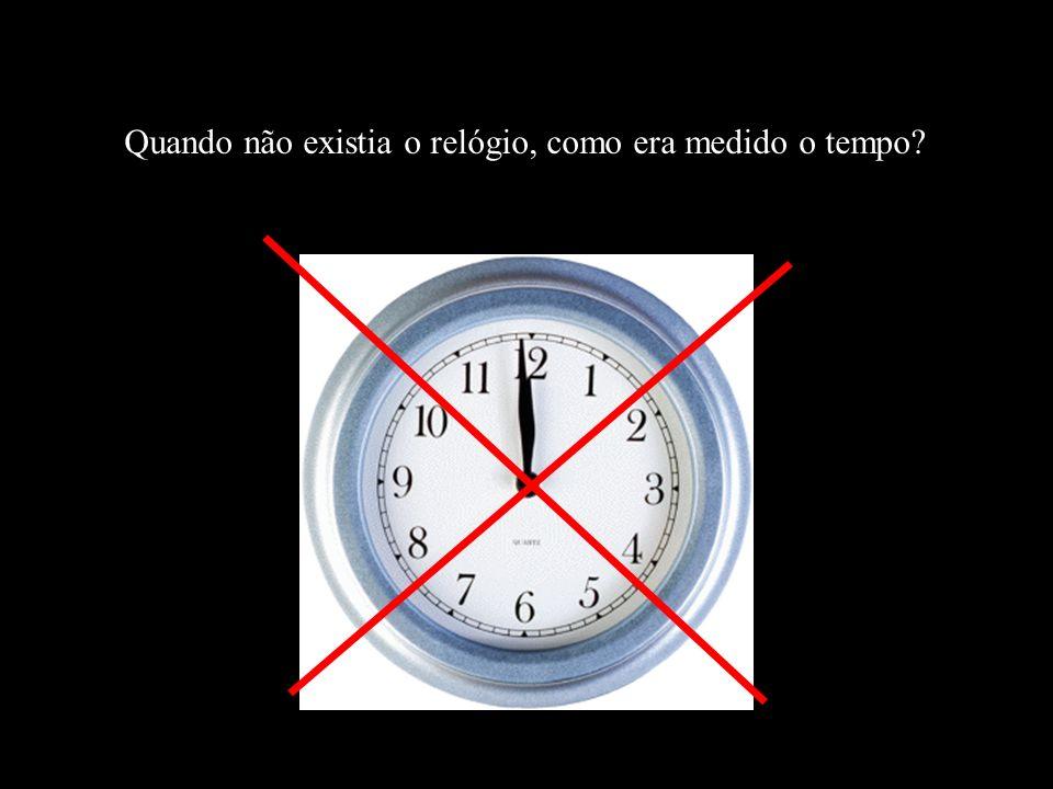 Quando não existia o relógio, como era medido o tempo?