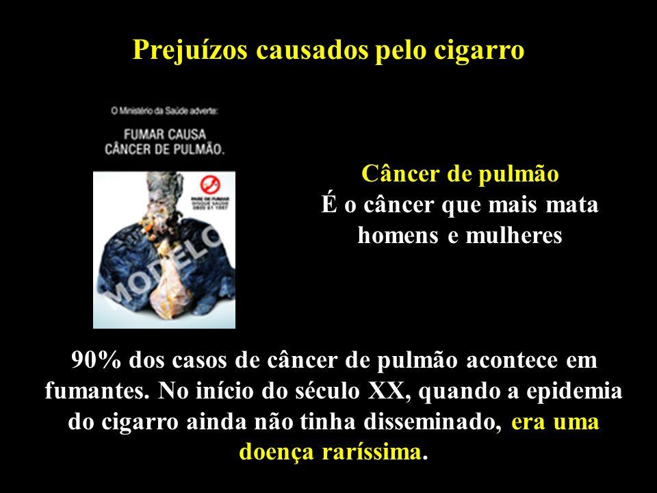 Professor: Deiber 90% dos casos de câncer de pulmão acontece em fumantes. No início do século XX, quando a epidemia do cigarro ainda não tinha dissemi