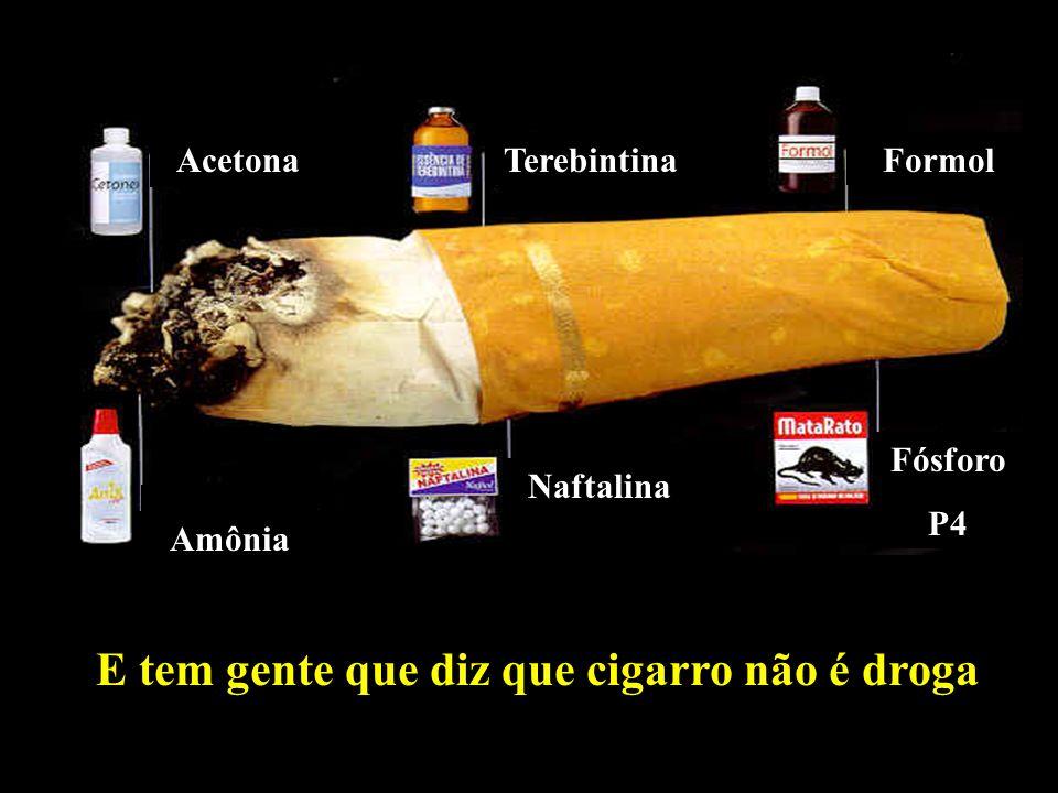 Professor: Deiber Acetona TerebintinaFormol Amônia Naftalina Fósforo P4 E tem gente que diz que cigarro não é droga