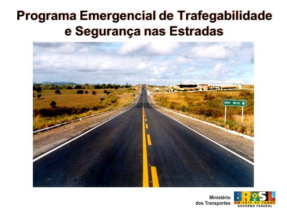 Objetivo Reestabelecer a integridade física e as condições de trafegabilidade e segurança para os usuários nas rodovias integrantes do Sistema Nacional de Viação - SNV.