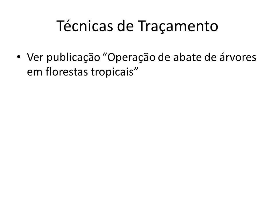 Técnicas de Traçamento Ver publicação Operação de abate de árvores em florestas tropicais