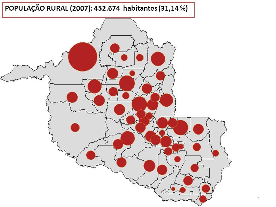 4 POPULAÇÃO URBANA (2007): 1.001.082 habitantes (68,86 %)