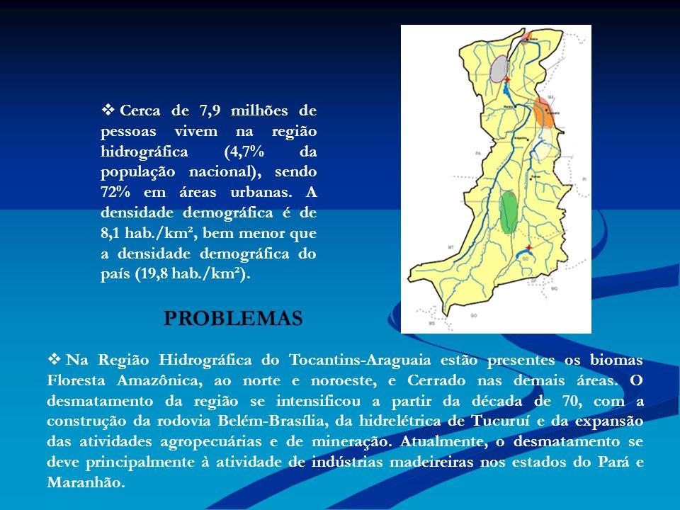 Cerca de 7,9 milhões de pessoas vivem na região hidrográfica (4,7% da população nacional), sendo 72% em áreas urbanas. A densidade demográfica é de 8,