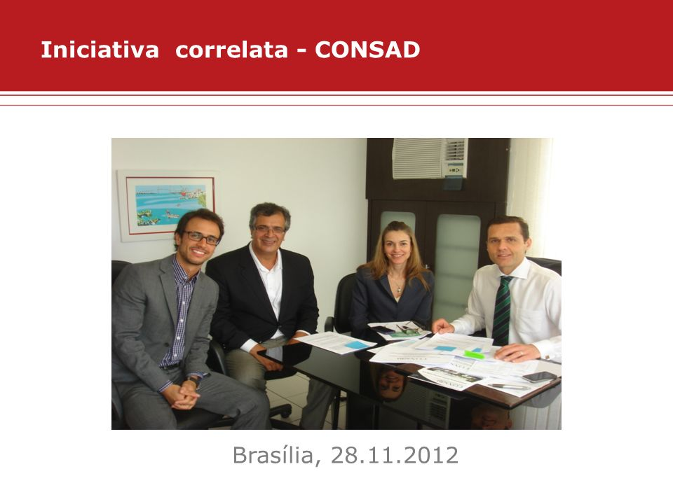 Iniciativa correlata - CONSAD Brasília, 28.11.2012
