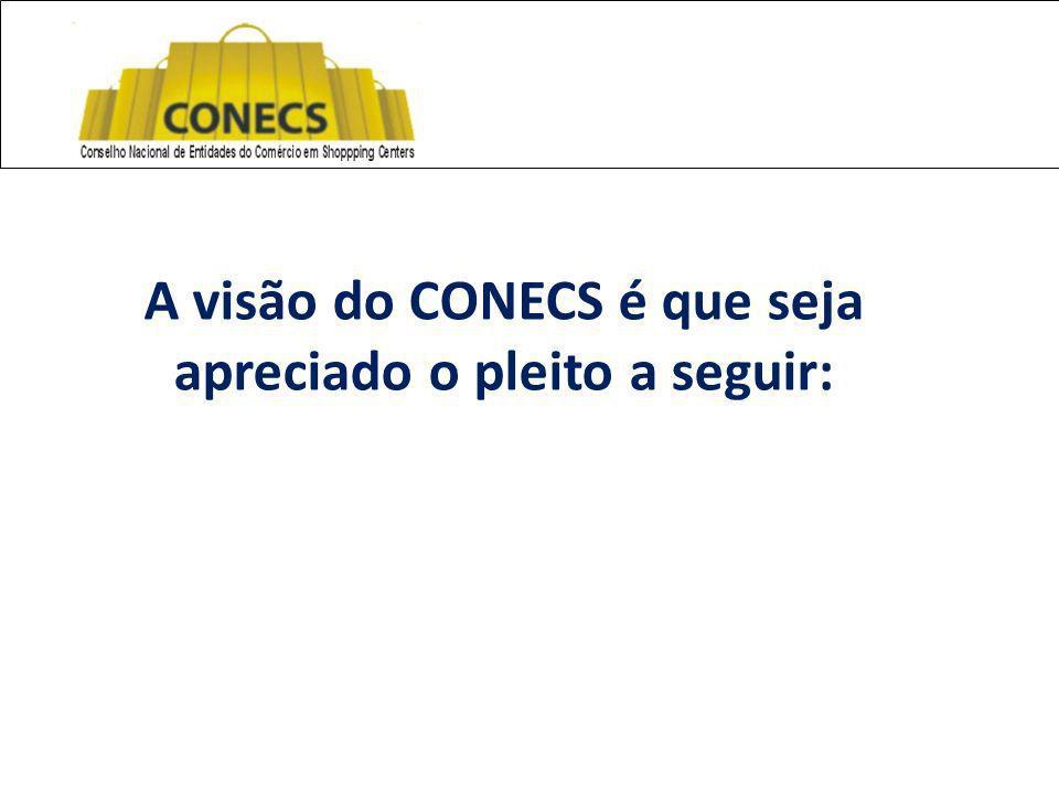 A visão do CONECS é que seja apreciado o pleito a seguir: