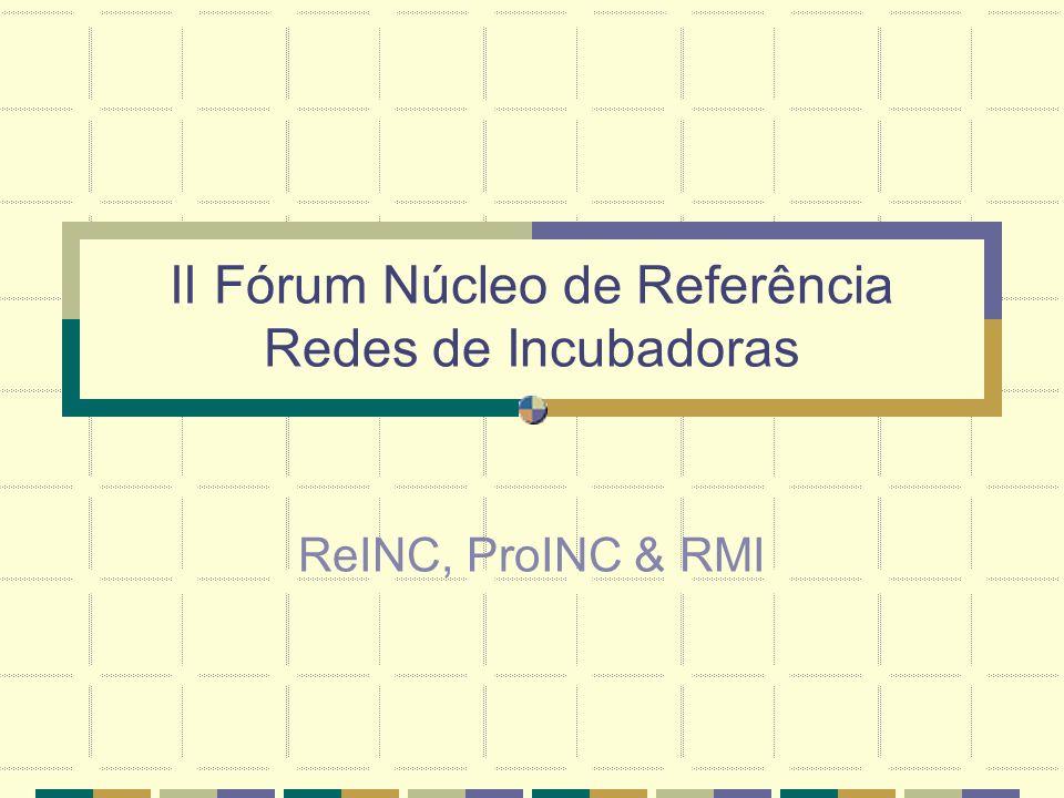 Sistema de Informação Utilização por membros externos aos núcleos parceiros Via RedeIncubar Conexão Notes - Publique Notes com criação de novo site em estudo Retec/IEL Limitar acesso a Biblioteca