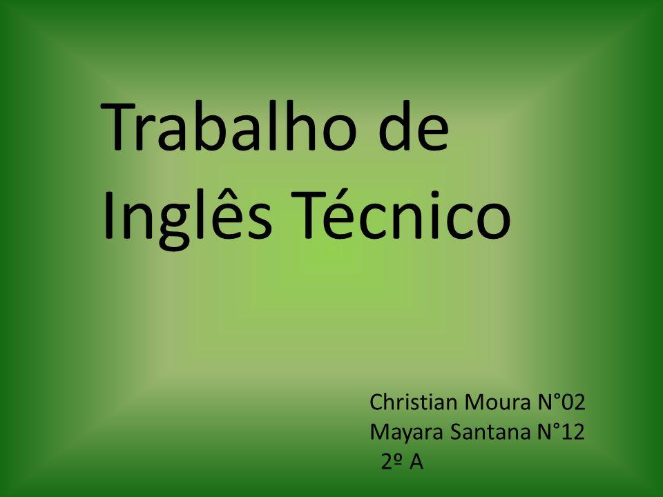 Christian Moura N°02 Mayara Santana N°12 2º A Trabalho de Inglês Técnico