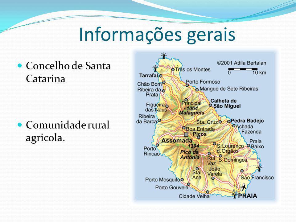 Informações gerais Concelho de Santa Catarina Comunidade rural agricola.