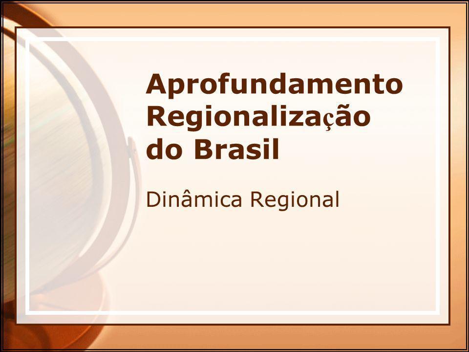Aprofundamento Regionaliza ç ão do Brasil Dinâmica Regional
