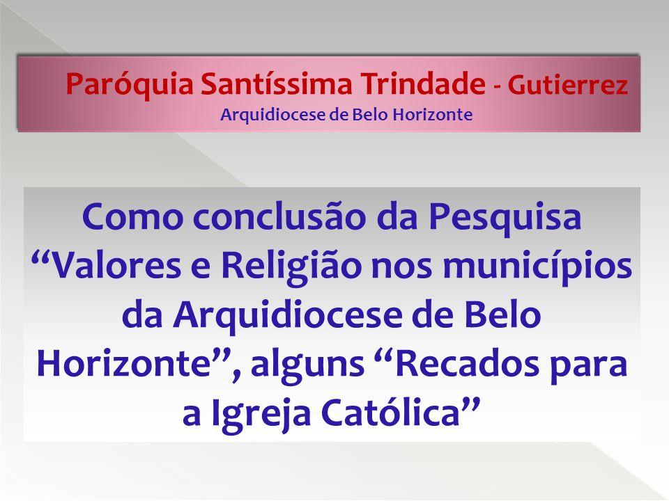 Paróquia Santíssima Trindade - Gutierrez Arquidiocese de Belo Horizonte 1.