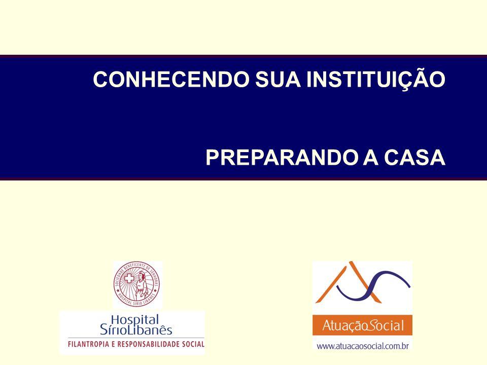 CONHECENDO SUA INSTITUIÇÃO PREPARANDO A CASA