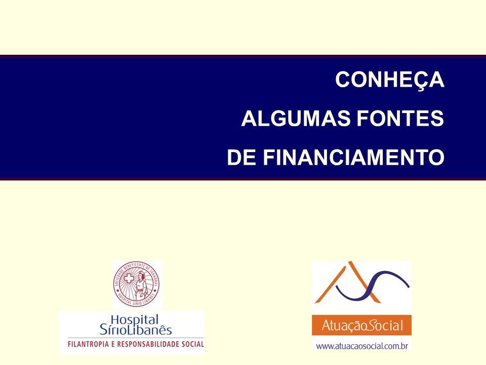 CONHEÇA ALGUMAS FONTES DE FINANCIAMENTO