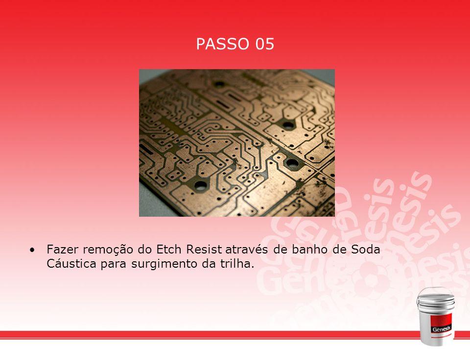 PASSO 06 Aplicar a tinta Seriepoxi atarvés de impressão serigráfica, onde se fixarão os componentes eletrônicos.