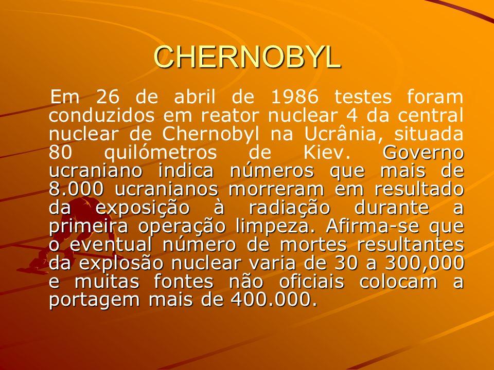 CHERNOBYL Governo ucraniano indica números que mais de 8.000 ucranianos morreram em resultado da exposição à radiação durante a primeira operação limp