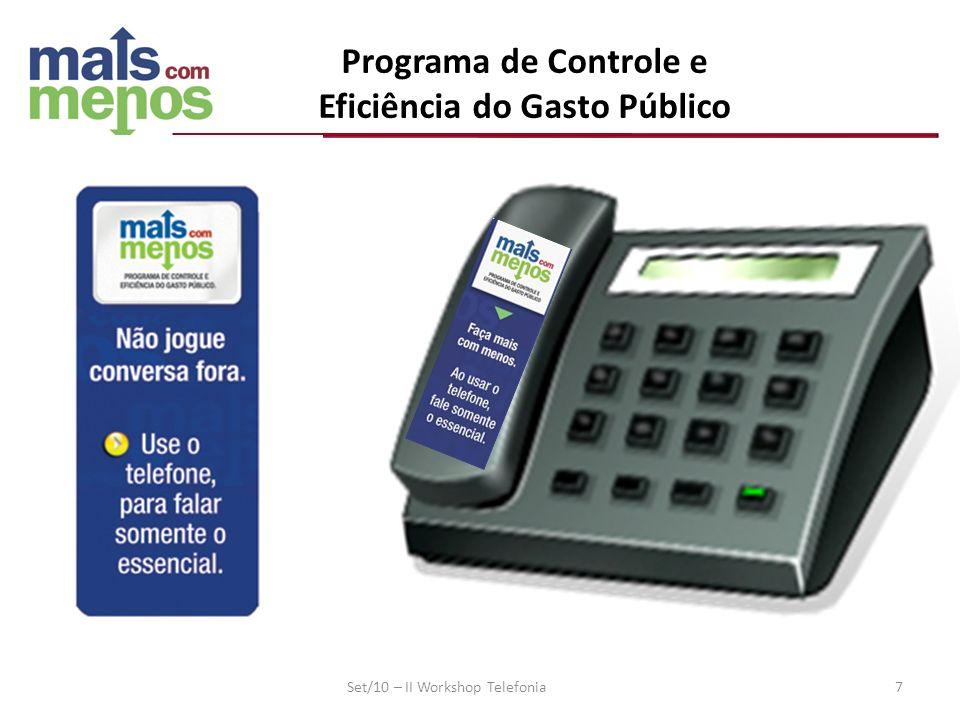 Programa de Controle e Eficiência do Gasto Público Set/10 – II Workshop Telefonia 7