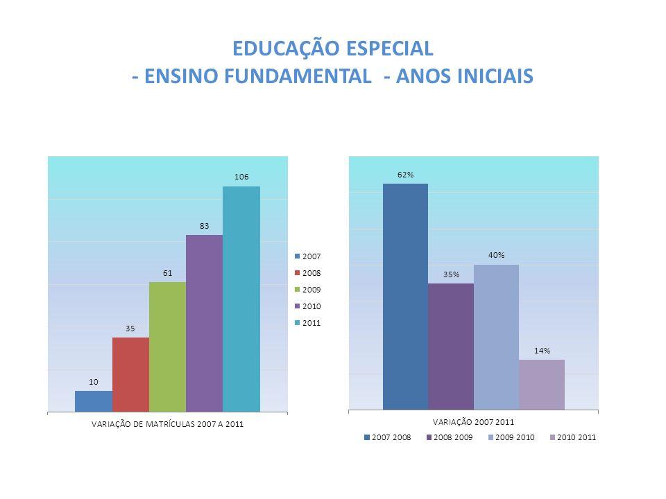 EDUCAÇÃO ESPECIAL - ENSINO FUNDAMENTAL - ANOS INICIAIS
