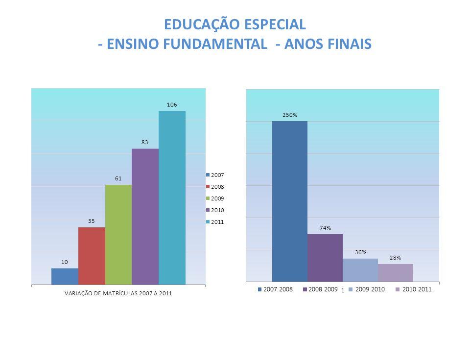 EDUCAÇÃO ESPECIAL - ENSINO FUNDAMENTAL - ANOS FINAIS