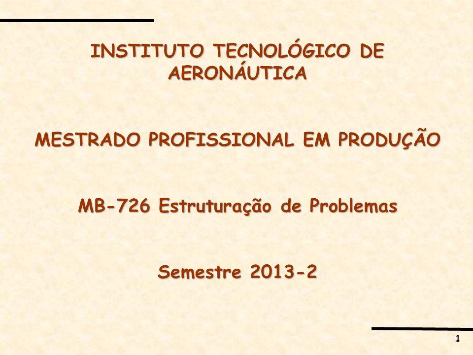 2 MB-726 Estruturação de Problemas Tarefas em sala 27 setembro 2013 Aula 2