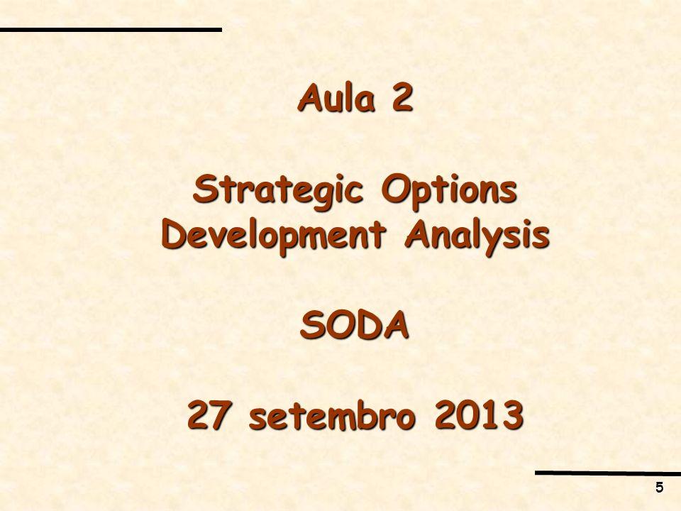 5 Aula 2 Strategic Options Development Analysis SODA 27 setembro 2013