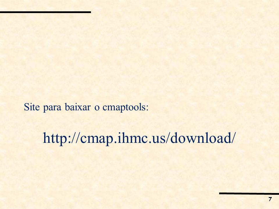 8 Software CMAPtools para o desenho de Mapas Cognitivos