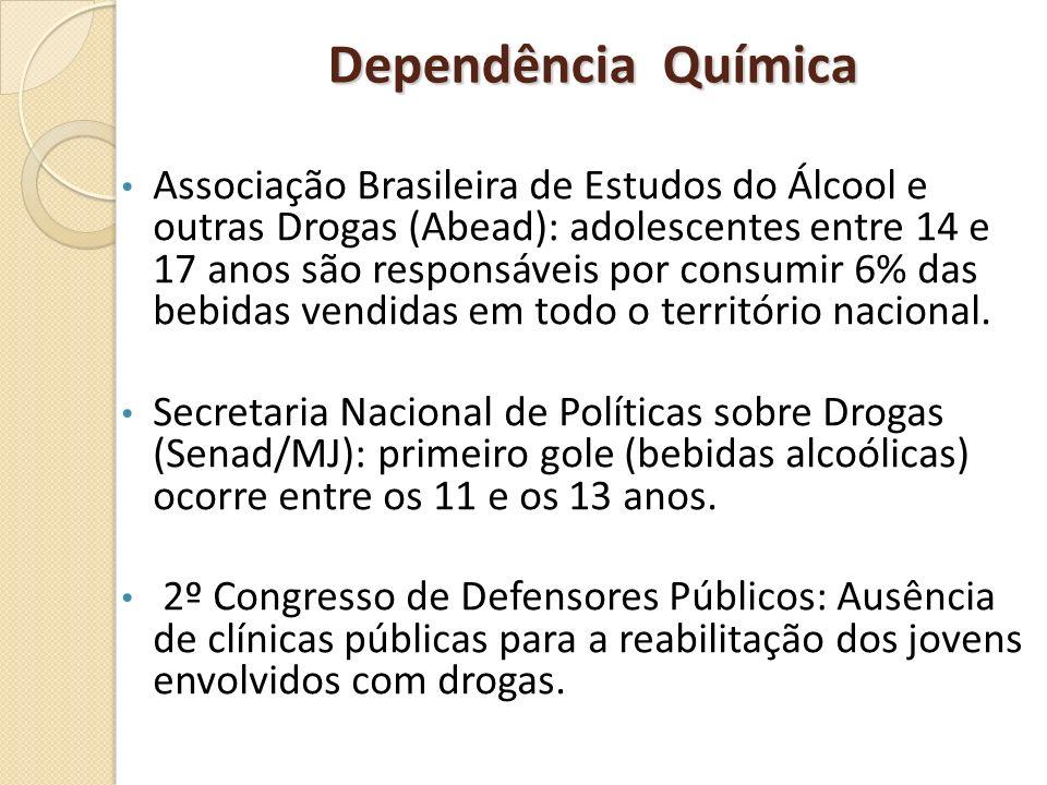 Dependência Química Associação Brasileira de Estudos do Álcool e outras Drogas (Abead): adolescentes entre 14 e 17 anos são responsáveis por consumir