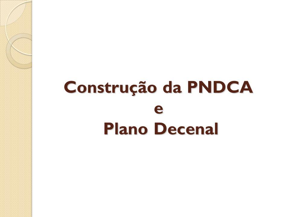 Construção da PNDCA e Plano Decenal