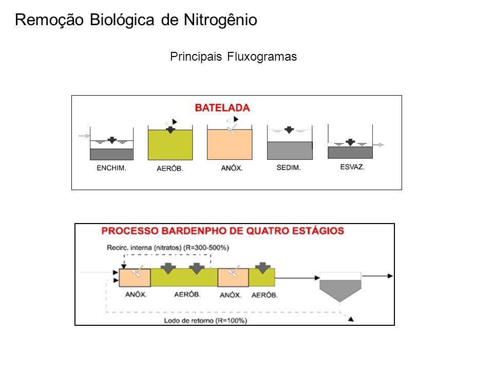 Remoção Biológica de Nitrogênio Principais Fluxogramas