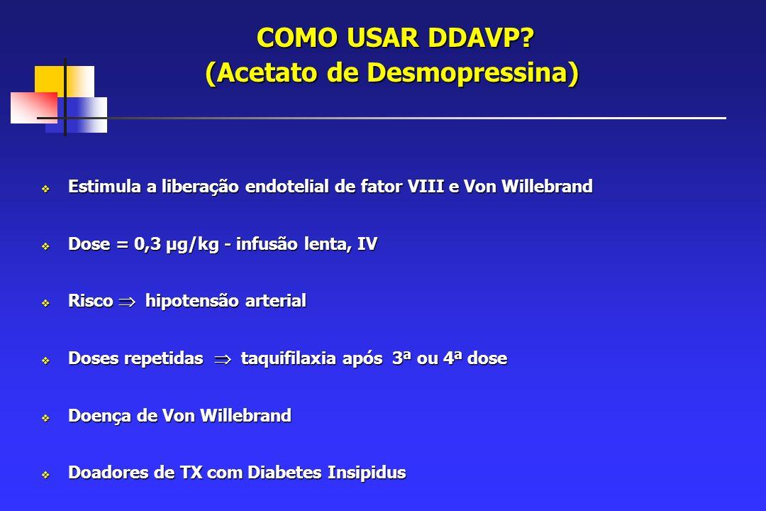 COMO USAR DDAVP.(Acetato de Desmopressina) COMO USAR DDAVP.