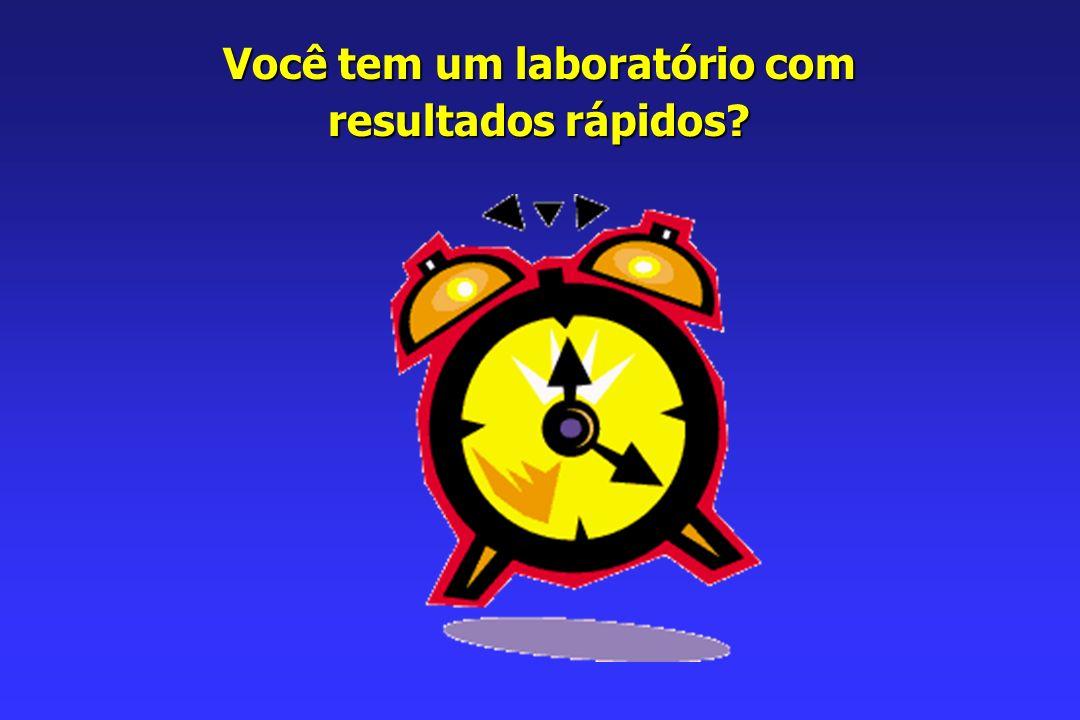 Você tem um laboratório com resultados rápidos?