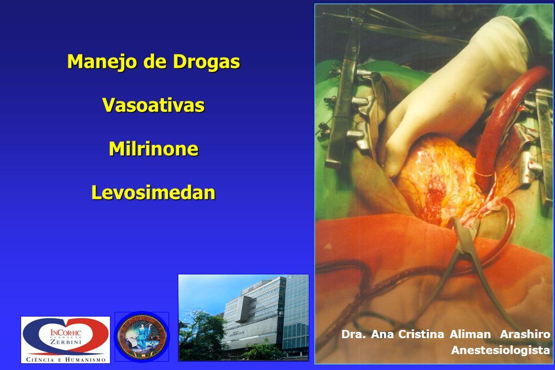 Manejo de Drogas Vasoativas Milrinone Levosimedan Dra.