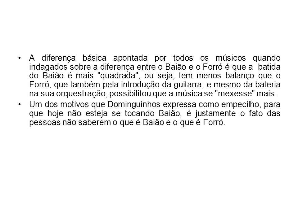 Representante do Forró A popularização do ritmo se deu mesmo a partir da década de 40, com Luiz Gonzaga, pernambucano que veio para o Rio de Janeiro e gravou inúmeras músicas, que falavam do cotidiano nordestino.