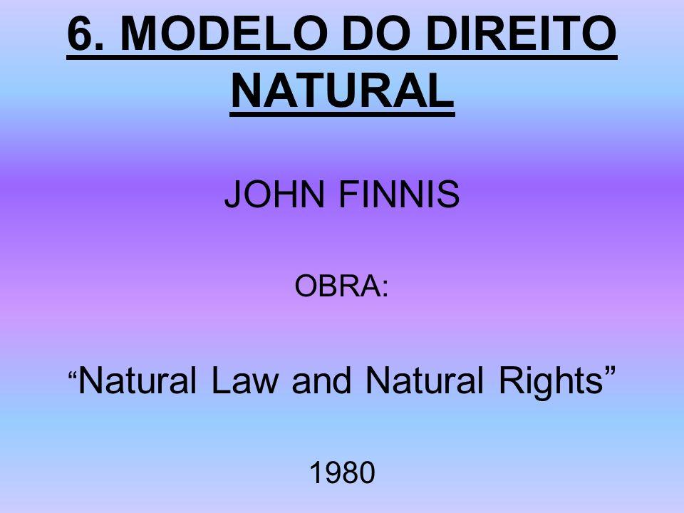 6. MODELO DO DIREITO NATURAL JOHN FINNIS OBRA: Natural Law and Natural Rights 1980