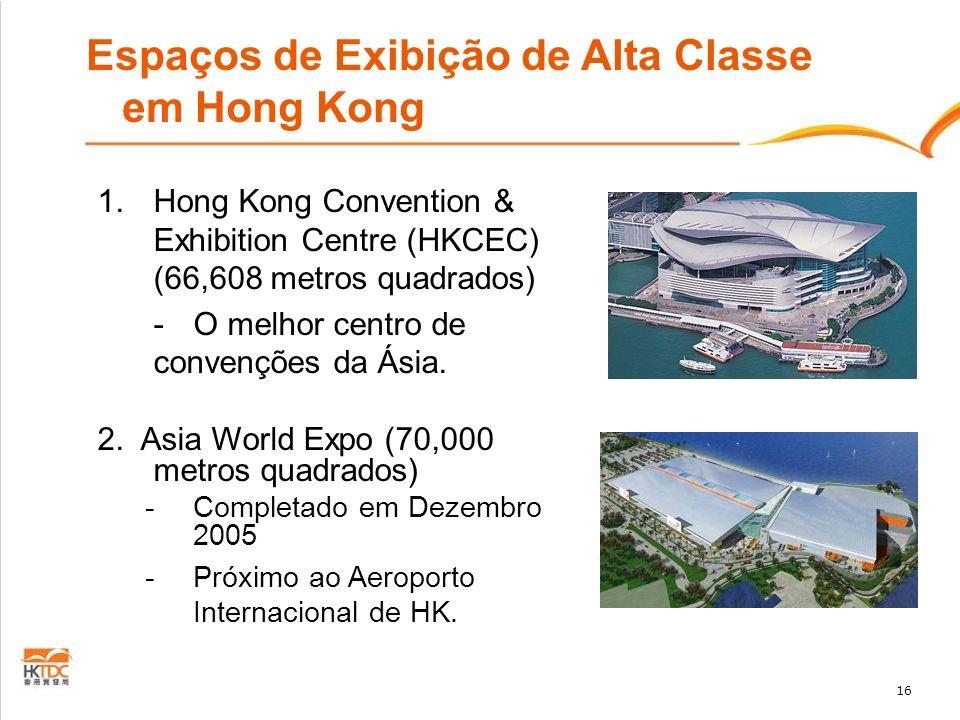 16 Espaços de Exibição de Alta Classe em Hong Kong 1.Hong Kong Convention & Exhibition Centre (HKCEC) (66,608 metros quadrados) -O melhor centro de co