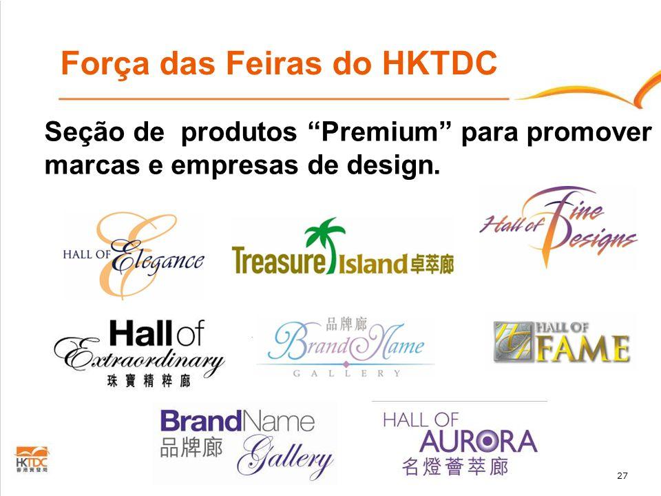 27 Força das Feiras do HKTDC Seção de produtos Premium para promover marcas e empresas de design.