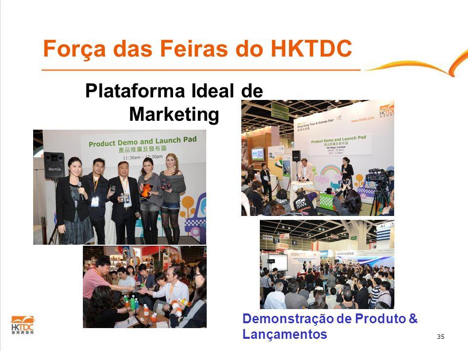 35 Plataforma Ideal de Marketing Demonstração de Produto & Lançamentos Força das Feiras do HKTDC