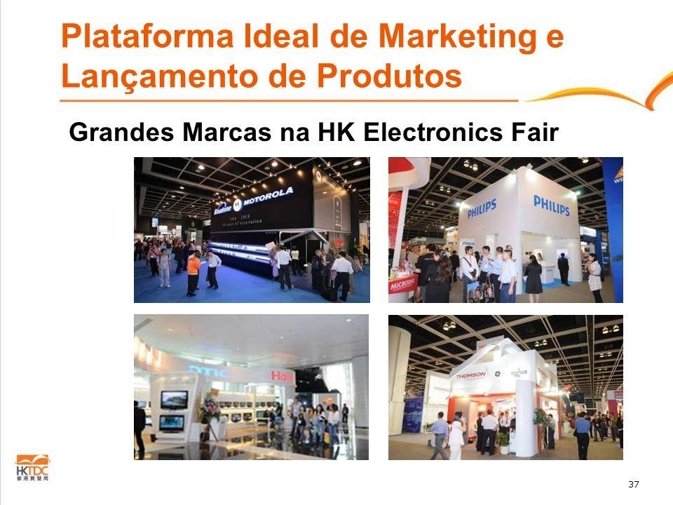 37 Plataforma Ideal de Marketing e Lançamento de Produtos Grandes Marcas na HK Electronics Fair