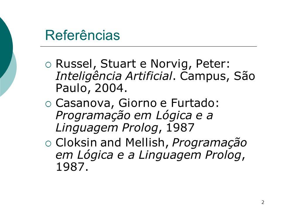 2 Referências Russel, Stuart e Norvig, Peter: Inteligência Artificial.