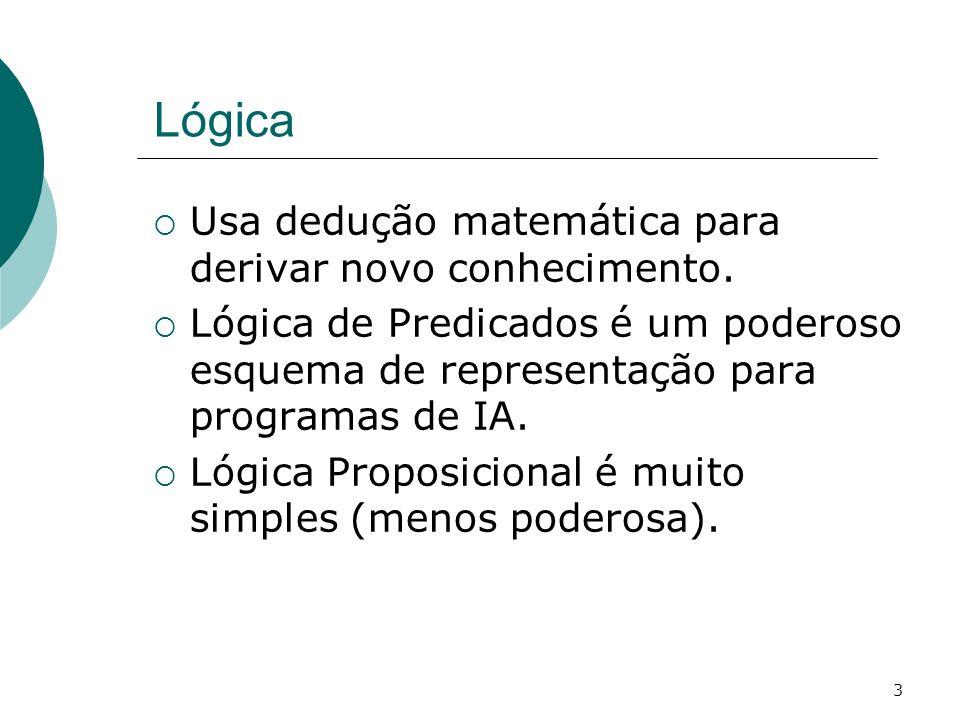 3 Lógica Usa dedução matemática para derivar novo conhecimento.