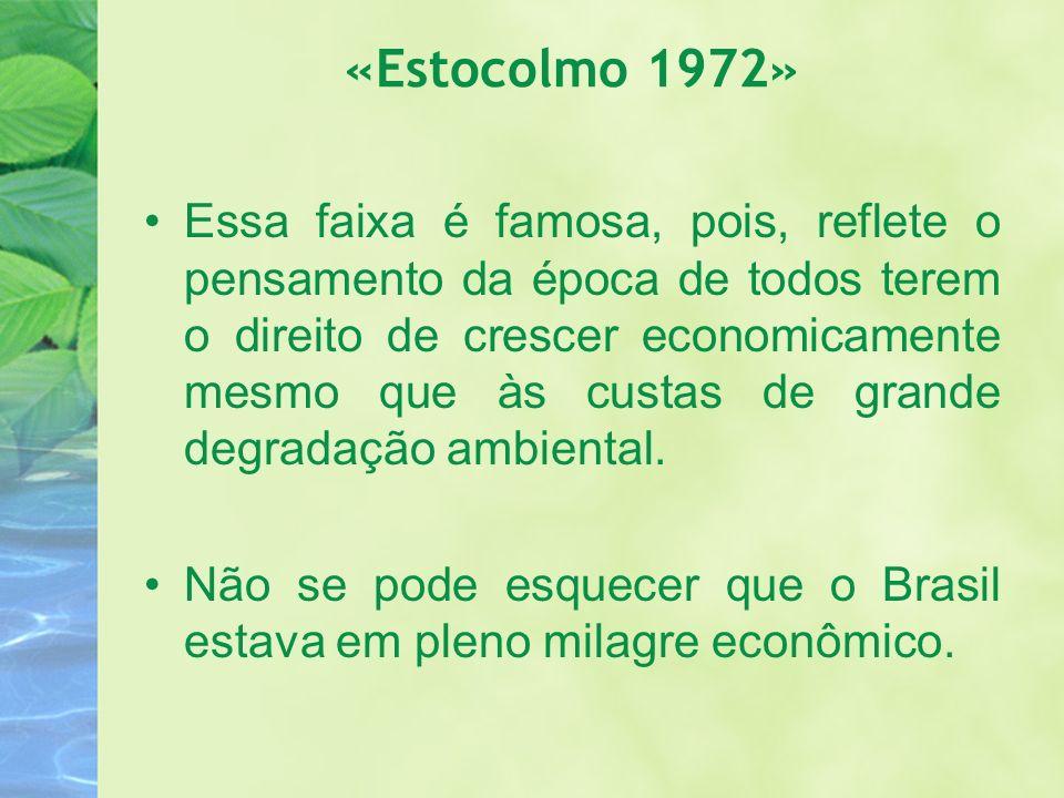 «Estocolmo 1972» Essa faixa é famosa, pois, reflete o pensamento da época de todos terem o direito de crescer economicamente mesmo que às custas de gr