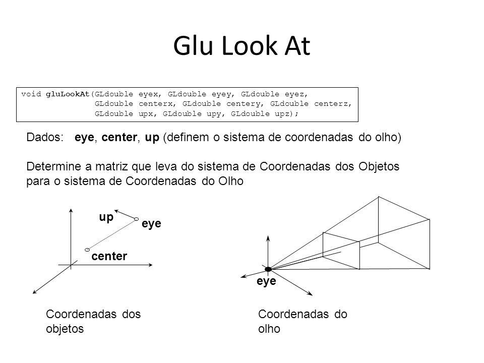 Análise do problema : Parte 2: (Não implementado) – O usuário deve também poder apontar com o mouse um objeto da cena e com isto a câmera deve rotacionar de forma a que o centro do objeto fique no eixo óptico da câmera.
