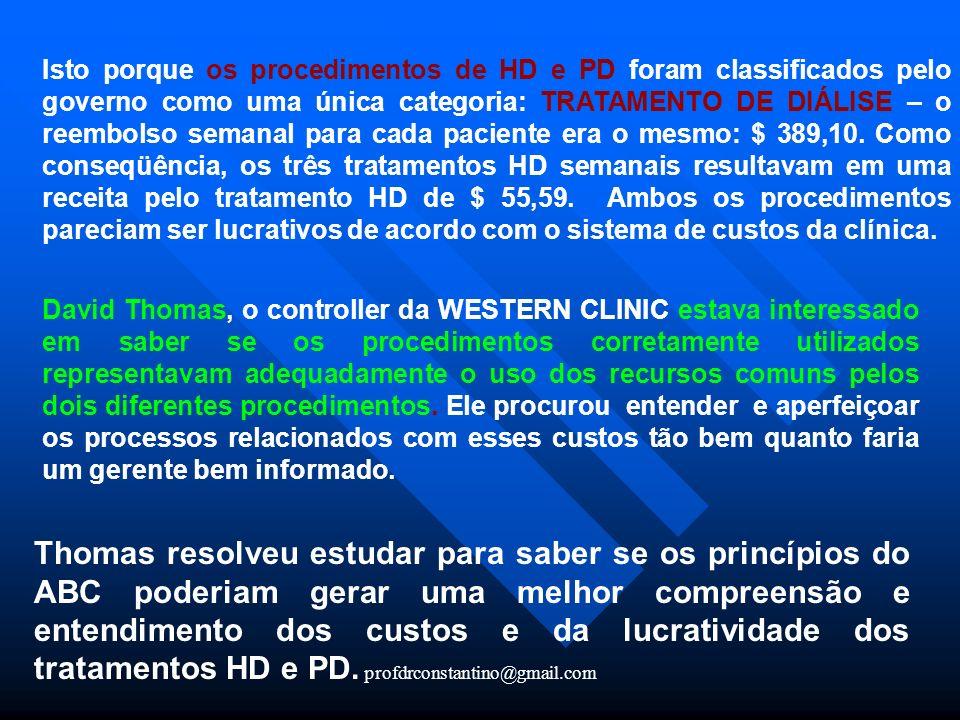profdrconstantino@gmail.com Isto porque os procedimentos de HD e PD foram classificados pelo governo como uma única categoria: TRATAMENTO DE DIÁLISE –